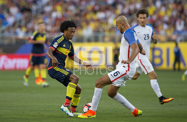 Santa Clara, California - June 3, 2016: US National team takes on Colombia in the first match of the 2016 Copa America
