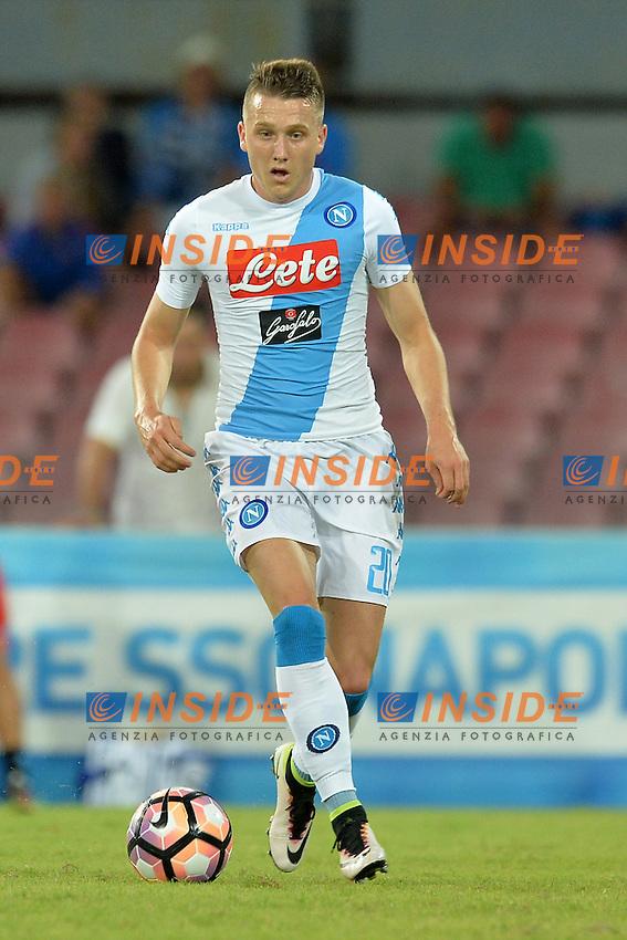 Piotr Zielinski Napoli<br /> Napoli 7-08-2016  Stadio San Paolo<br /> amichevole / friendly match.<br /> Napoli - Monaco<br /> Foto Antonietta Baldassarre / Insidefoto