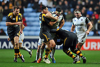 Francois Louw of Bath Rugby takes on the Wasps defence. European Rugby Champions Cup match, between Wasps and Bath Rugby on December 13, 2015 at the Ricoh Arena in Coventry, England. Photo by: Patrick Khachfe / Onside Images