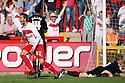 Robin Shroot of Stevenage celebrates after scoring thier equaliser. Stevenage v Crewe Alexandra - npower League 1 -  Lamex Stadium, Stevenage - 15th September, 2012. © Kevin Coleman 2012.