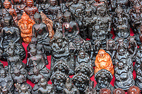 Bhaktapur, Nepal.  Hindu and Buddhist Deities for Sale.  Buddha, Ganesh.
