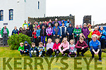 Some of the 70 Pilgrims who walked up Cnoc na dTobar on Good Friday as part of the Pilgrim Paths of Ireland pictured here at the Barracks in Cahersiveen before they set off.