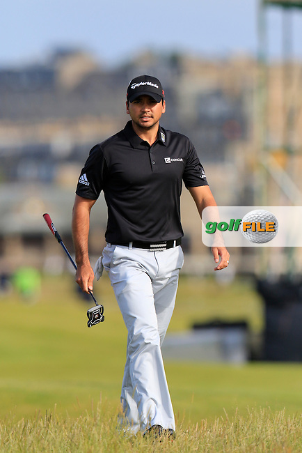 Jason DAY (AUS) walks to the 16th tee during Sunday's Round 3 of the 144th Open Championship, St Andrews Old Course, St Andrews, Fife, Scotland. 19/07/2015.<br /> Picture Eoin Clarke, www.golffile.ie