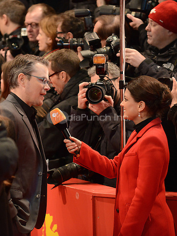 Matt Damon attending the &quot;The Monuments Men&quot; Premiere at at the 64th Annual Berlinale International Film Festival at Berlinale Palast, Berlin, Germany, 8.2.2014.<br /> Photo by Janne Tervonen/insight media /MediaPunch ***FOR USA ONLY***