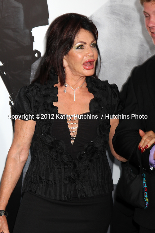 """Los Angeles - AUG 15:  Jackie Stallone arrives at the """"The Expendables 2""""  Premiere at Graumans Chinese Theater on August 15, 2012 in Los Angeles, CA"""