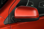 Closeup detail view of a driver side mirror on a 2008 Mitsubishi Lancer Evolution