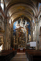 Baroque interior of the church of St Francis Borgia, Eger, Hungary