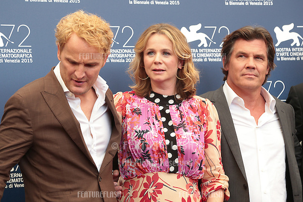Jason Clarke, Emily Watson &amp; Josh Brolin at the photocall for Everest at the 2015 Venice Film Festival.<br /> September 02, 2015  Venice, Italy<br /> Picture: Kristina Afanasyeva / Featureflash