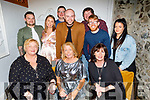 Enjoying the evening in Bella Bia on Friday.<br /> Seated l to r: Kate and Joan Carmody with Aileen Switzer. <br /> Standing l to r: Robbie Maxwell, Ciara O'Mahoney, Daniel Carmody, Sean O'Mahoney, Terance Carmody, Greg and Laura Switzer.