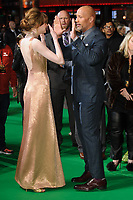 Karen Gillan &amp; Dwayne Johnson at the &quot;Jumanji: Welcome to the Jungle&quot; premiere at the Vue West End, Leicester Square, London, UK. <br /> 07 December  2017<br /> Picture: Steve Vas/Featureflash/SilverHub 0208 004 5359 sales@silverhubmedia.com