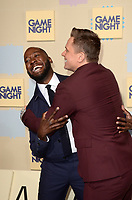 "LOS ANGELES - FEB 21:  Lamorne Morris, Billy Magnussen at the ""Game Night"" Premiere at the TCL Chinese Theater IMAX on February 21, 2018 in Los Angeles, CA"