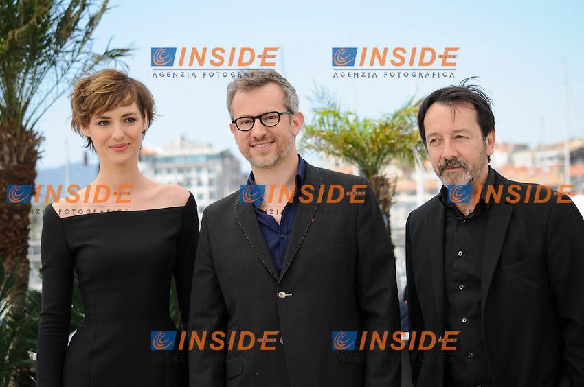 Louise Bourgoin -  Laurent Lariviere - Jean-Hugues Anglade <br /> Festival del Cinema di Cannes 2015<br /> Foto Panoramic / Insidefoto