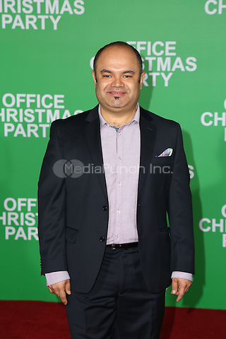 WESTWOOD, CA - DECEMBER 07: Erick Chavarria arrives at the premiere of Paramount Pictures' 'Office Christmas Party' at Regency Village Theatre on December 7, 2016 in Westwood, California.  (Credit: Parisa Afsahi/MediaPunch).