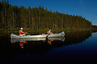 Canoeing ecotorism, Varmland, Sweden
