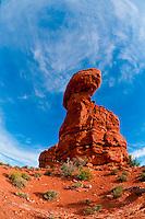 Balanced Rock, Arches National Park, near Moab, Utah USA