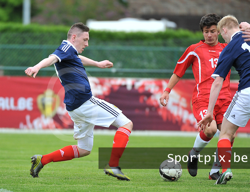 Scotland U19 - Georgia U19 : Declan Mcmanus (left).foto DAVID CATRY / Nikonpro.be