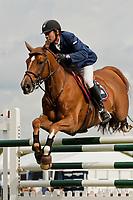 FRA-Aymeric De Ponnat (ONESTAR DU MESNIL) 2012 GBR-Longines Hickstead Royal International Horse Show: THE SKY SPORTS SPEED CLASSIC-4TH