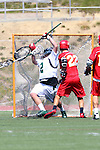 San Diego, CA 05/21/11 - Spencer Schmitt (Cathedral Catholic #22) and Reis Stanley (Coronado #2) in action during the 2011 CIF San Diego Section Division 2 Varsity Lacrosse Championship between Cathedral Catholic and Coronado.