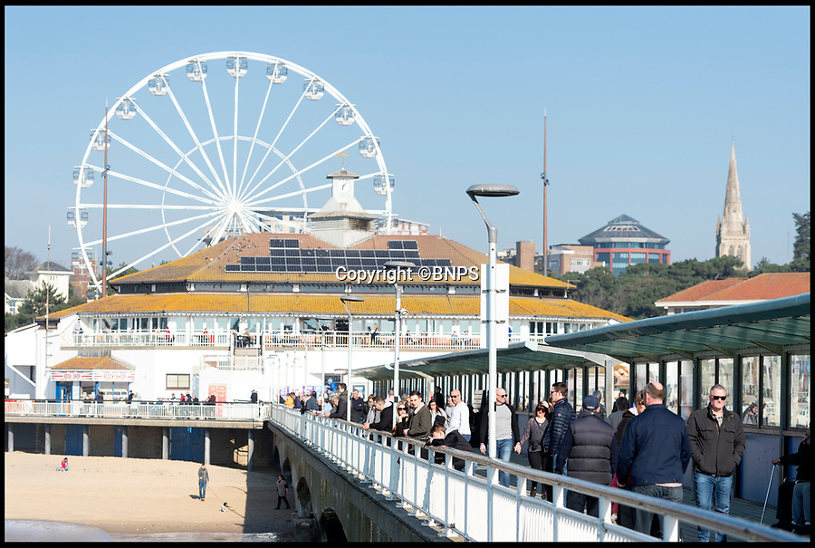 BNPS.co.uk (01202 558833)<br /> Pic: RogerArbon/BNPS<br /> <br /> First warm weekend of the year had the crowds shaking off the winter blues on Bournemouth seafront today (Sunday) as the sun shone.