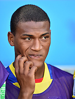 FUSSBALL WM 2014  VORRUNDE    GRUPPE E     Ecuador - Frankreich                  25.06.2014 Carlos Gruezo (Ecuador)