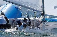 470 / Sho KAMINOKI - Taisei HIKIDA (JPN)<br /> ISAF Sailing World Cup Final - Melbourne<br /> St Kilda sailing precinct, Victoria<br /> Port Phillip Bay Tuesday 6 Dec 2016<br /> &copy; Sport the library / Jeff Crow