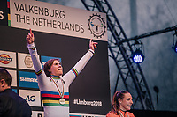 the (re)new(ed) World Champion Sanne Cant (BEL)<br /> <br /> Women Elite Race<br /> UCI CX Worlds 2018<br /> Valkenburg - The Netherlands