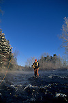 Winter trout fishing, John Ebeling on Fishing Creek in PA