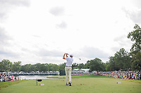 Jim Herman (USA) watches his tee shot on 17 during Sunday's final round of the PGA Championship at the Quail Hollow Club in Charlotte, North Carolina. 8/13/2017.<br /> Picture: Golffile | Ken Murray<br /> <br /> <br /> All photo usage must carry mandatory copyright credit (&copy; Golffile | Ken Murray)