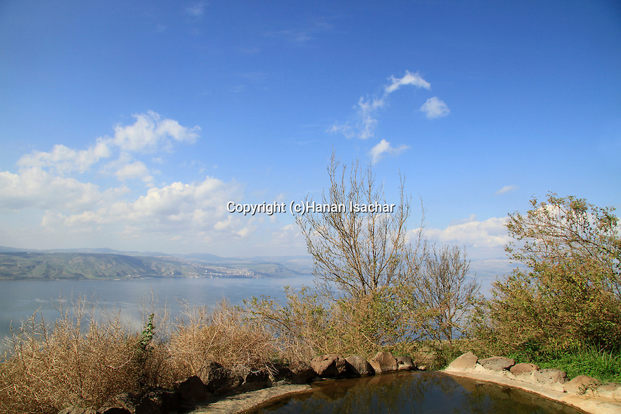 Golan Heights, Ein a-Tina (Ein Shoko) overlooking the Sea of Galilee