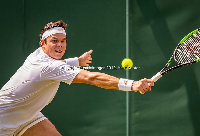 London, England, 3 July, 2019, Tennis,  Wimbledon, Milos Raonic (CAN)<br /> Photo: Henk Koster/tennisimages.com