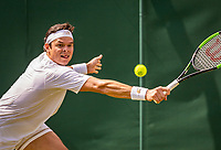 London, England, 3 July, 2019, Tennis,  Wimbledon, Milos Raonic (CAN)<br /> Photo: Henk Koster/tennisimages.com