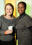Becky McKeehan and Mercedes Baly at the Realcity Literacy party at 13 Celsius Thursday Feb. 18,2010. (Dave Rossman Photo)