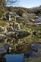 78.5 Engakuji 円覚寺 is the main temple of the Engakuji sect of the Rinzai Buddhist sect. Engakuji is one of the leading Zen temples in eastern Japan and ranks second among Kamakura's five great Zen temples. Its unique garden was restored in 1969 according to an old drawing. Zen Buddhism regarded gardens as microcosms of the natural landscape and this is a fine example.