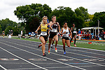 28 MAY 2016:  Olivia Seeley of Wisconsin Oshkosh races toward a first place finish in the women's 4X100 race during the Division III Men's and Women's Outdoor Track & Field Championship held at Walston Hoover Stadium on the Wartburg College campus in Waverly, IA. Wisconsin Oshkosh won the race with a time of 46.05. Conrad Schmidt/NCAA Photos
