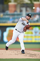 Charlotte Knights starting pitcher Donny Roach (33) delivers a pitch to the plate against the Scranton/Wilkes-Barre RailRiders at BB&T BallPark on August 14, 2019 in Charlotte, North Carolina. The Knights defeated the RailRiders 13-12 in ten innings. (Brian Westerholt/Four Seam Images)