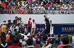 Players in action during the Royal Trophy  Europe vs Asia Golf Championship on the Asian Game course at the Dragon Lake Golf Club in Guangzhou, China on 20 December 2013. Photo by Xaume Olleros / The Power of Sport Images