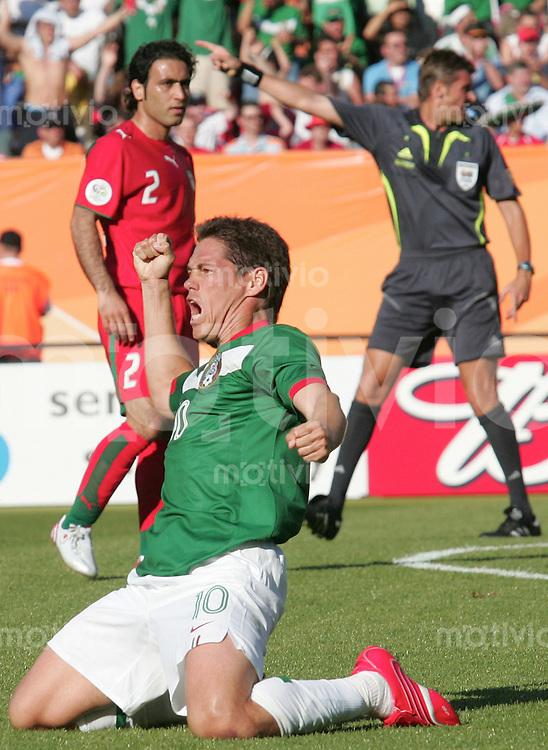 FussballInternational WM 2006 Vorrunde Mexiko-Iran Jubel zu 1: 0 von Guillerm Franco (MEX)