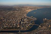 aerial photograph Long Beach, Los Angeles County, California