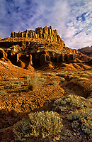 731350008 mud and sandstone formations below the castel formation in capitol reef national park in utah