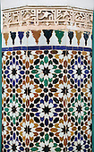 Tiles at Bahia Palace, Marrakech, Morocco
