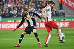 14.01.2018, RheinEnergieStadion, Koeln, GER, 1.FBL., 1. FC K&ouml;ln vs. Borussia M&ouml;nchengladbach<br /> <br /> im Bild / picture shows: <br /> Thorgan Hazard (Gladbach #10),  im Zweikampf gegen  Milos Jojic (FC K&ouml;ln #8),  <br /> <br /> <br /> Foto &copy; nordphoto / Meuter
