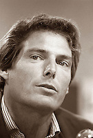 August 23, 1987 File Photo - Montreal (Qc) Canada - Actor Christopher Reeves at 1987 World Film Festival.
