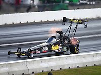 Jun 4, 2016; Epping , NH, USA; NHRA top fuel driver Leah Pritchett during qualifying for the New England Nationals at New England Dragway. Mandatory Credit: Mark J. Rebilas-USA TODAY Sports