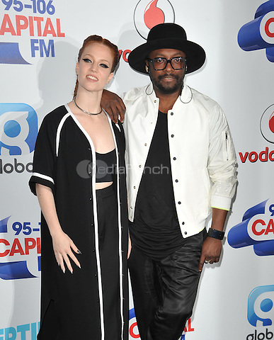 Jess Glynne &amp; Will.i.am at the Capital FM Summertime Ball in aid of the Help a London Child charity, Wembley Stadium, Wembley, London, England, UK, on Saturday 11 June 2016.<br /> CAP/CAN<br /> &copy;CAN/Capital Pictures /MediaPunch ***NORTH AND SOUTH AMERICA ONLY***