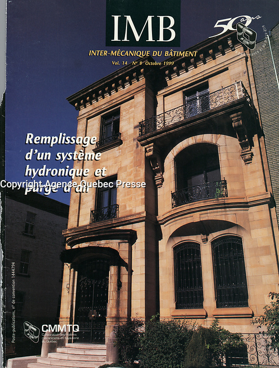 Publication  en couverture d'Inter Mechanique du Batiment <br /> <br /> Photo : Pierre Roussel