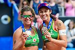 26.08.2017, Hamburg, Stadion Am Rothenbaum<br />Beachvolleyball, World Tour Finals<br /><br />3. Platz / Bronze / Bronzemedaille: Larissa Franca (#1 BRA) und Talita Antunes (#2 BRA)<br /><br />  Foto © nordphoto / Kurth