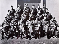 BNPS.co.uk (01202 558833)<br />Pic: C&T/BNPS<br /><br />Flt Lt Antoni Lipkowski (front centre) with his squadron.<br /> <br /> A fascinating photo album has sold for £1200 at auction - the previously unseen photographs chart the wartime career of Polish aristocrat Antoni Lipkowski -revealing how the emigree from Nazi Europe became a fighter pilot in the RAF.<br /> <br /> Flight Lieutenant Antoni Lipkowski escaped Poland when Germany invaded in 1939 and was desperate to join in the fight against the Nazis.<br /> <br /> Previously a cavalry officer, he retrained as a pilot and joined one of the Polish squadrons based in Britain which did such sterling work defending these skies in World War Two.<br /> <br /> Flt Lt Lipkowski, of 316 Polish Fighter Squadron, was very tall for a pilot and turned heads with his 'handsome' appearance.<br /> <br /> There are images of him in the cockpit of his Spitfire and posing nonchalantly in front of it with a cigarette in his hand.