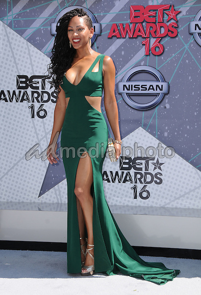 26 June 2016 - Los Angeles. Meagan Good. Arrivals for the 2016 BET Awards held at the Microsoft Theater. Photo Credit: Birdie Thompson/AdMedia