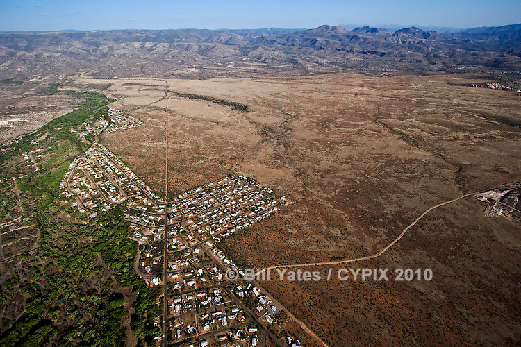 Desert Community southeast of Camp Verde arizona helicopter aerial