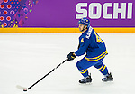 Niklas Hjalmarsson of Sweeden in action during the match between Sweden vs Czech Republic during their Men's Ice Hockey Preliminary Round Group C game on day five of the 2014 Sochi Olympic Winter Games at Bolshoy Ice Dome on February 12, 2014 in Sochi, Russia. Photo by Victor Fraile / Power Sport Images